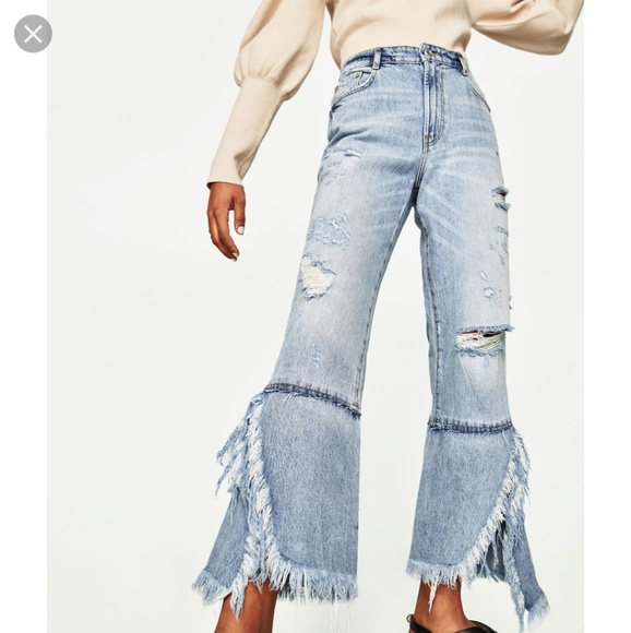 Zara Denim - Zara TRF distress denim